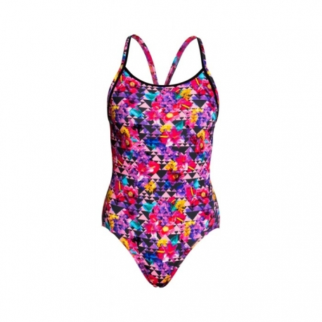 Kostium kąpielowy FUNKITA Diamond Back One Piece Petal Prism