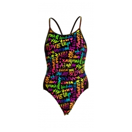 Kostium kąpielowy FUNKITA Diamond Back One Piece LOVE FUNKITA